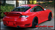 gt2 add-on wing on red
