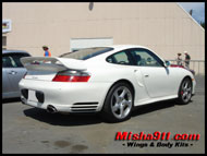 gt2 add-on wing on whit coupe image