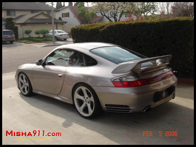 Misha Gt2m Wing On Meridian Metallic Porsche 996 C4s